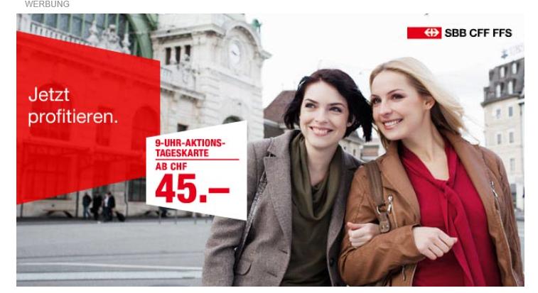 Werbung SBB